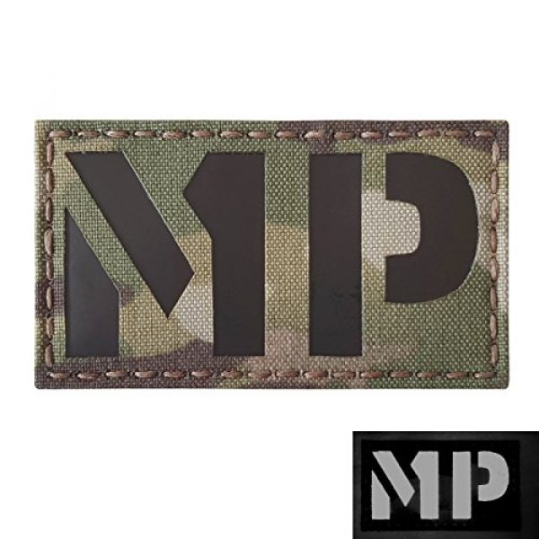 Tactical Freaky Airsoft Morale Patch 3 Multicam Infrared Military MP 3.5x2 Tactical Morale Hook-and-Loop Patch