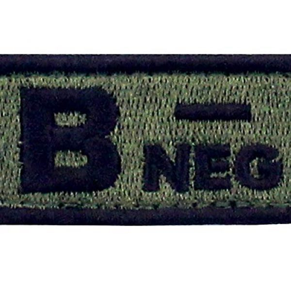 """EmbTao Airsoft Morale Patch 2 EmbTao Type B Negative Tactical Blood Type Patch Embroidered Morale Applique Fastener Hook & Loop Emblem - Green & Black -2""""x1"""""""