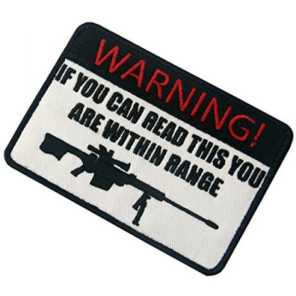 EmbTao Airsoft Morale Patch 4 If You Can Read This You are Within Range Tactical Military Morale Applique Fastener Hook & Loop Patch