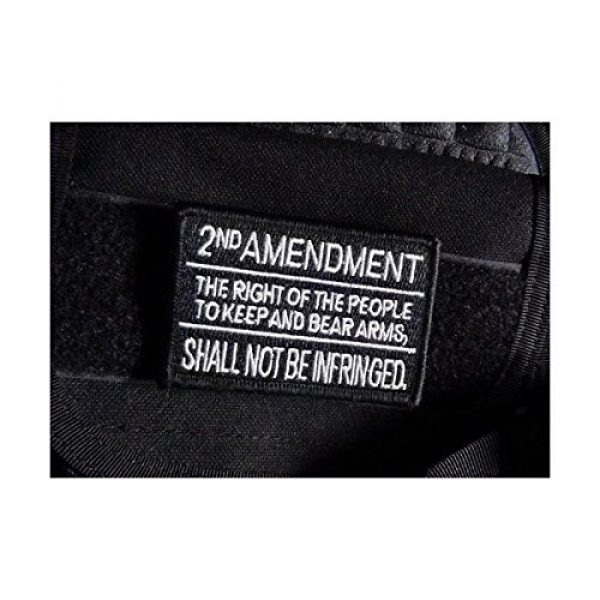Empire Tactical USA Airsoft Morale Patch 2 Tactical 2nd Amendment Black Tactical Morale Patch