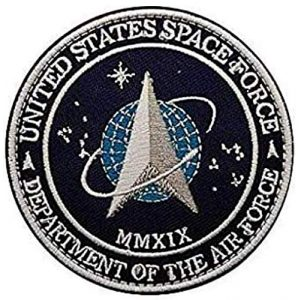 Tactical Embroidery Patch Airsoft Morale Patch 1 S-Tar T-rek US Space Force Department of The AIR Force Embroidery Patch Military Tactical Morale Patch Badges Emblem Applique Hook Patches for Clothes Backpack Accessories