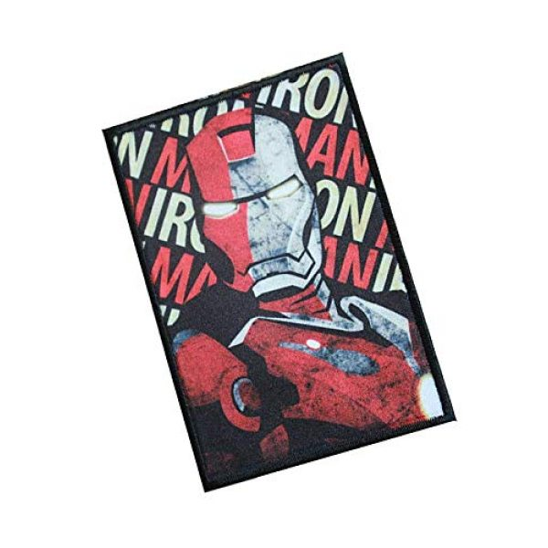 Fine Print Patch Airsoft Morale Patch 2 Iron Man Marvel Comics Military Hook Loop Tactics Morale Patch