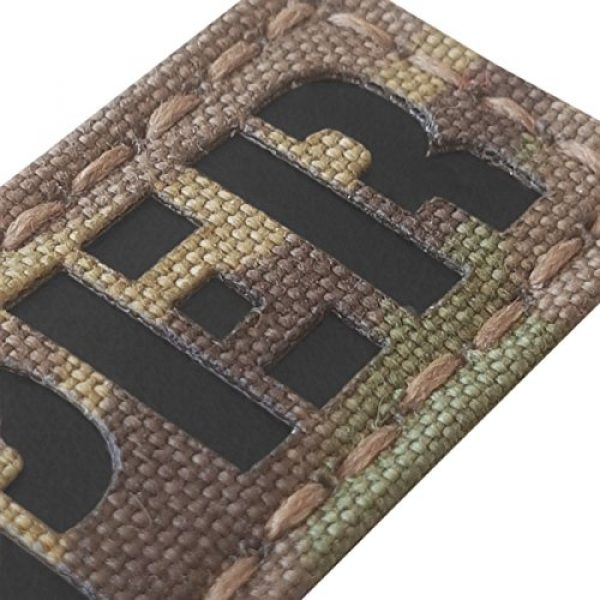 Tactical Freaky Airsoft Morale Patch 3 Reaper 1x3.5 Multicam Infrared Name Tape Tab IFF Morale Fastener Patch