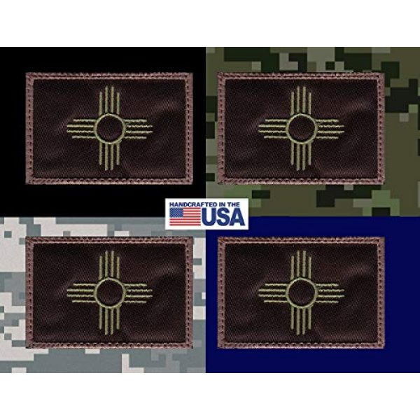 Tactical Patch Works Airsoft Morale Patch 3 New Mexico Zia Symbol State Flag Patch