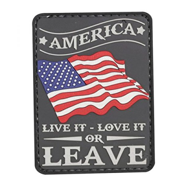 """5ive Star Gear Airsoft Morale Patch 1 5ive Star Gear """"America Live It Quote Morale Patch, One Size, Multi-Colored"""
