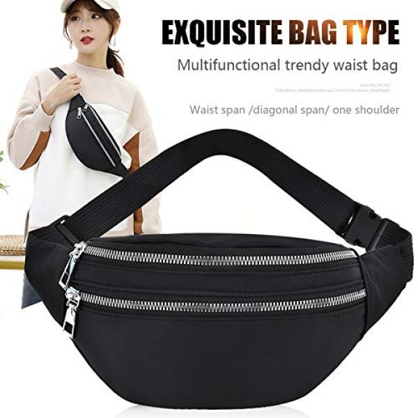 GEZICHTA Tactical Pouch 3 GEZICHTA Bum Bag Waist Fanny Pack for Men Women Unisex Bumbag Oxford Cloth Waist Bag Adjustable for Outdoor Sports Workout Hiking