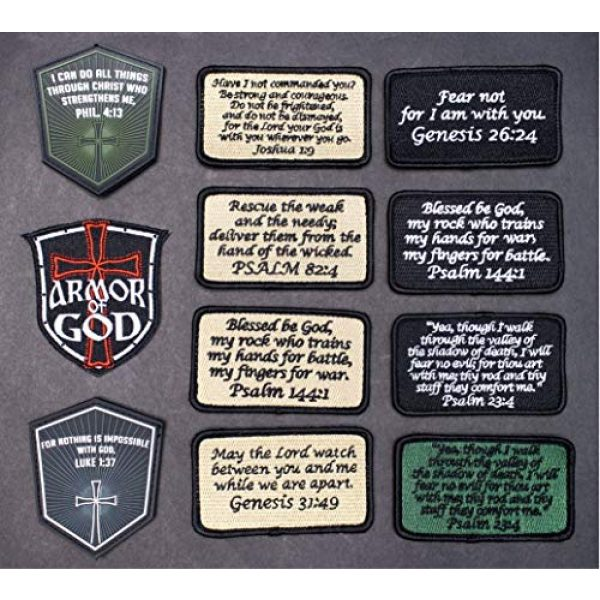 BASTION Airsoft Morale Patch 4 BASTION Morale Patches (Matthew 5:9, Black)   3D Embroidered Patches with Hook & Loop Fastener Backing   Well-Made Clean Stitching   Christian Patches Ideal for Tactical Bag, Hats & Vest