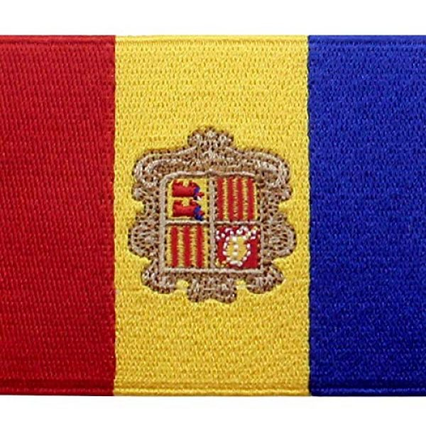 EmbTao Airsoft Morale Patch 2 EmbTao Andorra Flag Patch Embroidered National Morale Applique Iron On Sew On Andorran Emblem