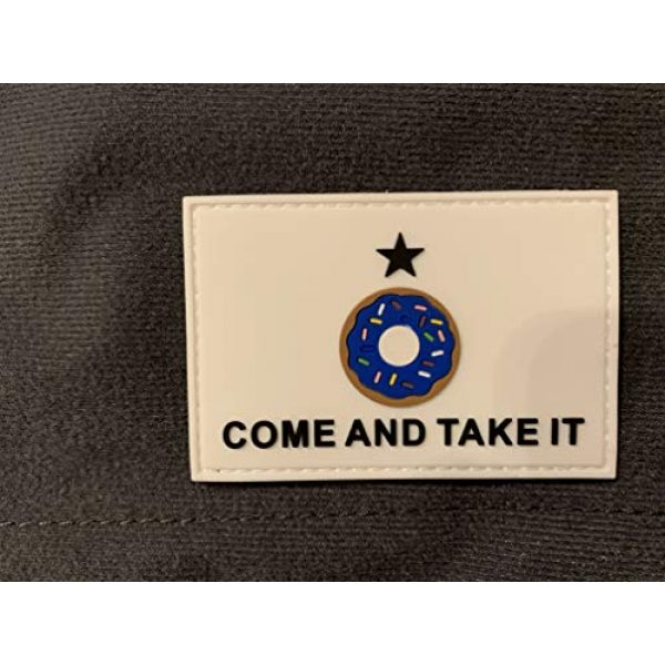 PakedDeals Airsoft Morale Patch 3 Come and Take It Donut Blue Patch Hook & Loop Gear Bag Vest Police Texas Funny Patch