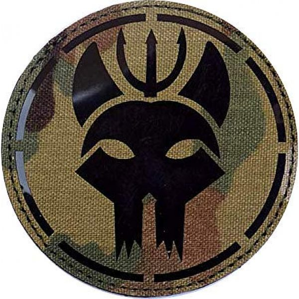 Embroidery Patch Airsoft Morale Patch 1 US Seal Team DEVGRU Military Hook Loop Tactics Morale Reflective IR Patch (color2)