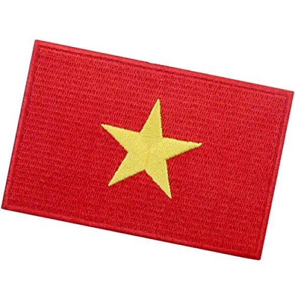 EmbTao Airsoft Morale Patch 4 EmbTao Vietnam Flag Patch Embroidered National Morale Applique Iron On Sew On Vietnamese Emblem