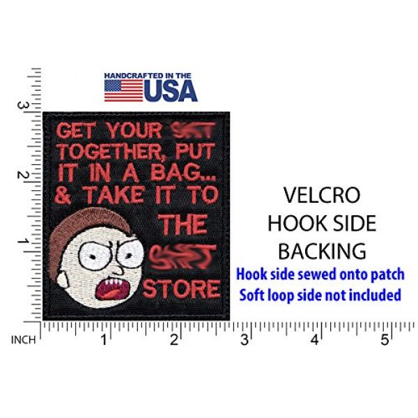 Tactical Patch Works Airsoft Morale Patch 2 Morty Sh-t Pack Your Sh-t Put It In A Bag Patch