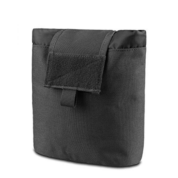 AMYIPO Tactical Pouch 1 AMYIPO Folding Tactical Molle Drawstring Magazine Dump Pouch, Military Adjustable Belt Utility Hip Holster Bag Outdoor Mag Pouch