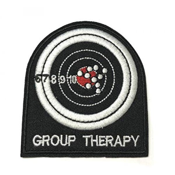 """Appalachian Spirit Airsoft Morale Patch 1 Group Therapy Range Target 3"""" Embroidered Patch DIY Iron or Sew-on Decorative Vacation Travel Souvenir Applique Biker Emblem Badge Military Veteran Tactical Funny Humor"""