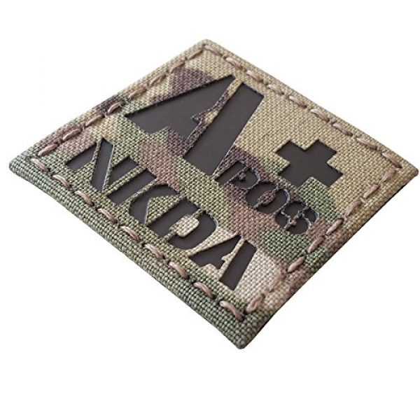 Tactical Freaky Airsoft Morale Patch 4 Multicam Infrared IR APOS NKDA A+ Blood Type 2x2 Tactical Morale Hook&Loop Patch
