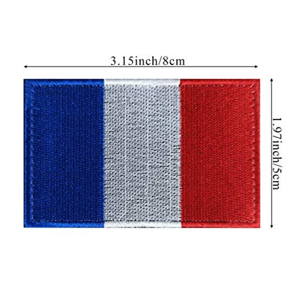 JBCD Airsoft Morale Patch 2 JBCD 3.15x1.97 inch France Flag Patch French Flags Patches Pride Clothes Patch Backside Tactical Patches Embroidery for Military Uniform Tactical Bag Jacket Team Backpack Hat