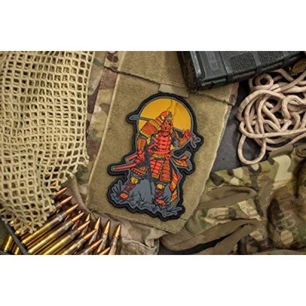 BASTION Airsoft Morale Patch 2 BASTION Morale Patches (Moderm Samurai) | 3D PVC Patch with Hook & Loop Fastener Backing | Well-Made | Military Combat Badge Patches Ideal for Tactical Bag, Hats & Vest