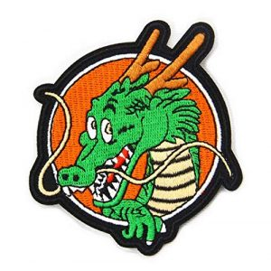 Tactical Embroidery Patch Airsoft Morale Patch 1 Dragon Ball Z Shenron Dragon Tactical Embroidery Patch Hook & Loop Morale Patch Military Patch for Clothing Accessory Backpack Armband