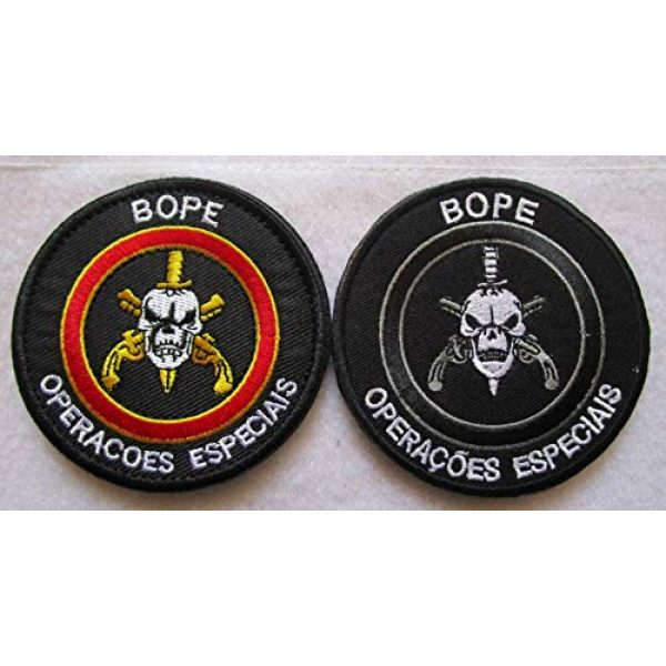 Embroidered Patch Airsoft Morale Patch 1 2pc BOPE Brazil Army Rio DE Janeiro TROPA DE Elite Troop 3D Tactical Patch Military Embroidered Morale Tags Badge Embroidered Patch DIY Applique Shoulder Patch Embroidery Gift Patch