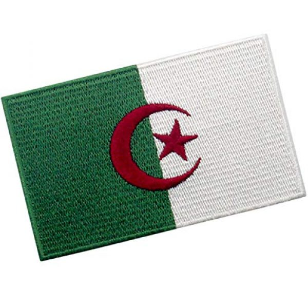 EmbTao Airsoft Morale Patch 3 EmbTao Algeria Flag Patch Embroidered National Morale Applique Iron On Sew On Algerian Emblem