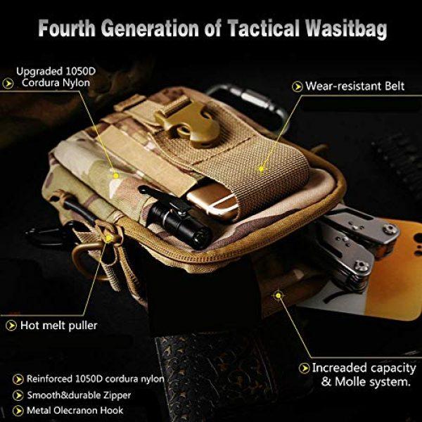 ANTARCTICA Tactical Pouch 4 ANTARCTICA 1050D Tactical Molle EDC Pouch Waist Bag Cell Phone Holster Holder Outdoor Hip Waist Belt Bag Wallet Purse