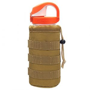 Cevinee Tactical Pouch 1 Cevinee trade; Ultra-light Tactical MOLLE Water Bottle Pouch, Drawstring Open Top & Mesh Bottom Travel Water Bottle Bag