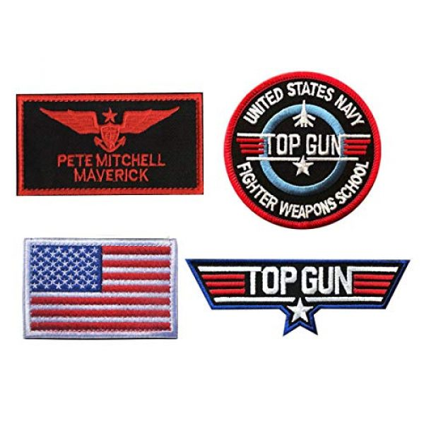 Zhikang68 Airsoft Morale Patch 1 Top Gun Movie Maverick Pete Mitchell Morale US Navy Air Force Aviator Embroidered Patch Military Tactical Army Gear for Hat Operator Baseball Cap Backpack Jacket Shirt DIY Sew On Costume Badge