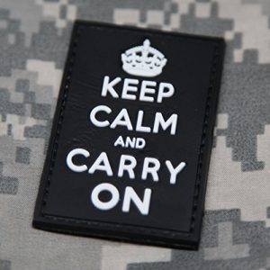 NEO Tactical Gear Airsoft Morale Patch 1 NEO Tactical Gear Keep Calm and Carry On Morale Patch - Black