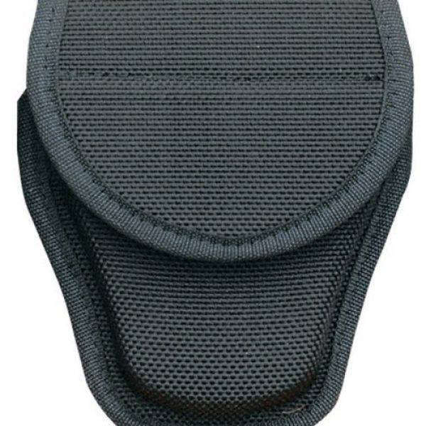 Bianchi AccuMold Tactical Pouch 1 Bianchi Accumold 7300 Covered Black Handcuff Case with Hidden Snap