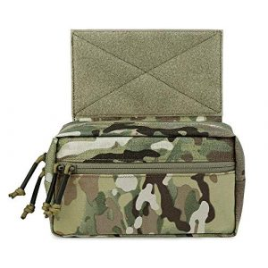 KRYDEX Tactical Pouch 1 KRYDEX Tactical Drop Pouch Sub Abdominal Carrying Kit Bag for Tactical Vest Chest Rig