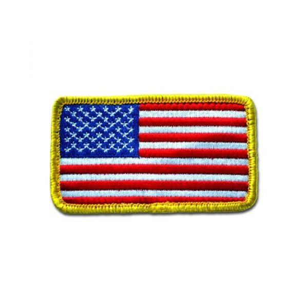 BASTION Airsoft Morale Patch 1 BASTION Morale Patches (USA Flag)   3D Embroidered Patches with Hook & Loop Fastener Backing   Well-Made Clean Stitching   Military Patches Ideal for Tactical Bag, Hats & Vest
