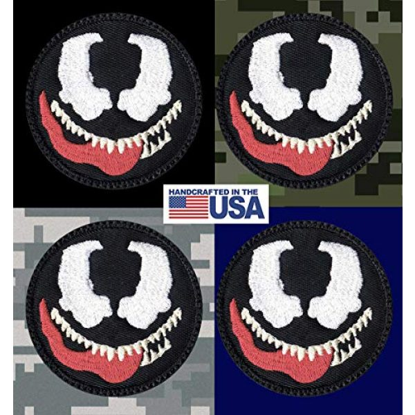Tactical Patch Works Airsoft Morale Patch 3 Venom Cartoon Simple Head Patch