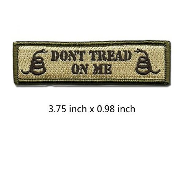 GreatPlus Airsoft Morale Patch 2 Don't Tread On Me Patch Embroidered Military Tactical Morale Patches