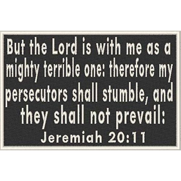 Victoriou Airsoft Morale Patch 1 Jeremiah 20:11 Patch with Brand Christian Morale Military Emblem