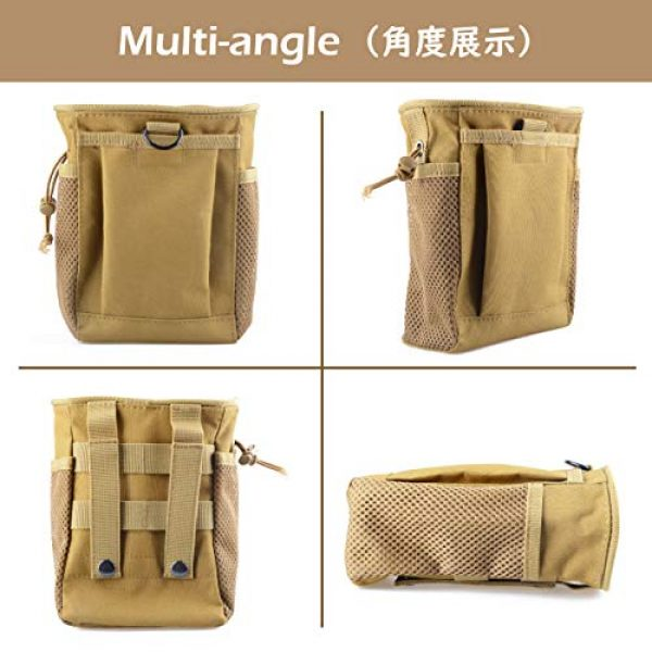 TRIWONDER Tactical Pouch 5 TRIWONDER Molle Drawstring Magazine Dump Pouch Tactical EDC Utility Fanny Hip Holster Bag Waist Bag Military Bag Outdoor Ammo Pouch