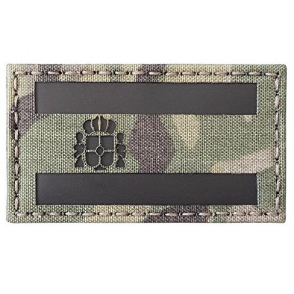 Tactical Freaky Airsoft Morale Patch 1 Multicam Infrared IR Spain Flag Bandera Espaa 3.5x2 IFF Tactical Morale Touch Fastener Patch
