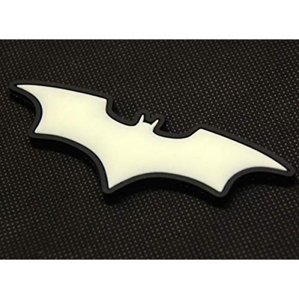 BritKitUSA Airsoft Morale Patch 3 BritKitUSA The Dark Knight Batman 3D PVC Glow in The Dark GITD SWAT Rubber Patch Hook Backing