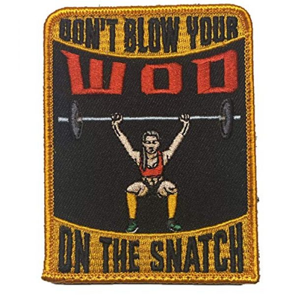 F-Bomb F Morale Gear Airsoft Morale Patch 1 Don't Blow Your WOD On The Snatch - Funny Crossfit Embroidered Morale Patch with Hook and Loop Backing