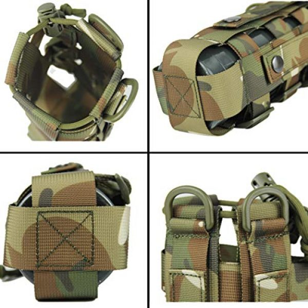 Aoutacc Tactical Pouch 2 2 Pack Molle Tactical Water Bottle Pouch Adjustable Straps Outdoor Sports Kettle Carrier Holder for Molle Systems