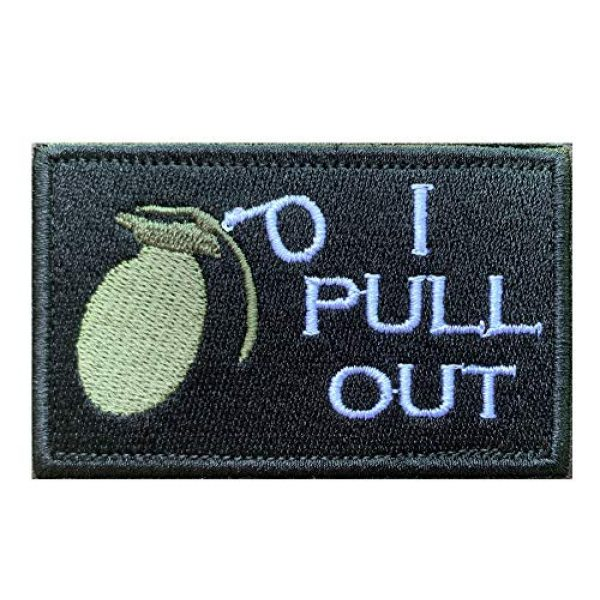Antrix Airsoft Morale Patch 1 Antrix Black I Pull Out The Grenade Funny Military Hook & Loop Tactical Patch