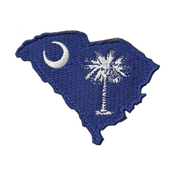 """Gadsden and Culpeper Airsoft Morale Patch 1 Die Cut South Carolina State Patch - 2"""" x 3"""""""