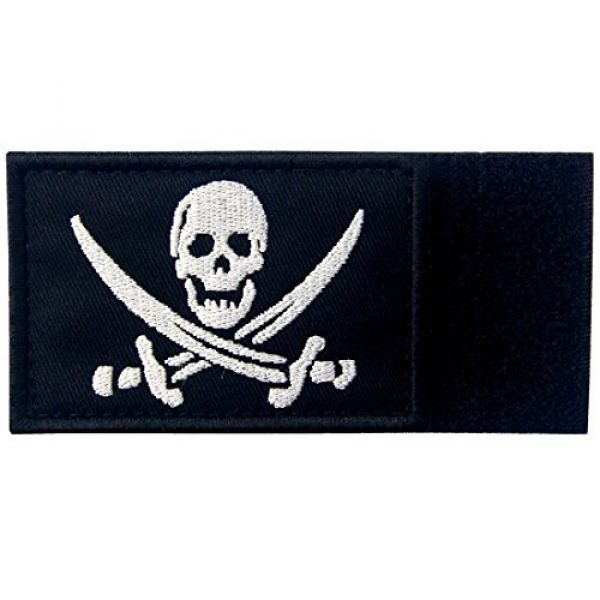 EmbTao Airsoft Morale Patch 6 Glow in Dark Pirate Flag Military Morale Applique Fastener Hook & Loop Patch
