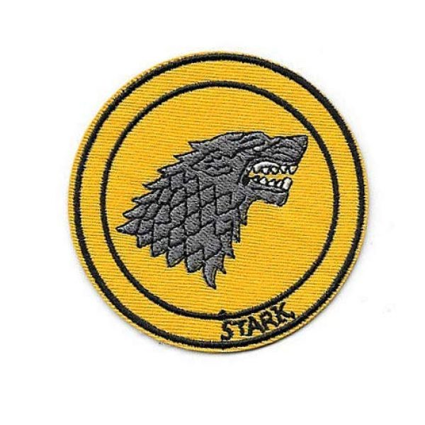 Embroidery Patch Airsoft Morale Patch 3 Game of Thrones House Stark Sigil Morale Military Hook Loop Tactics Morale Embroidered Patch