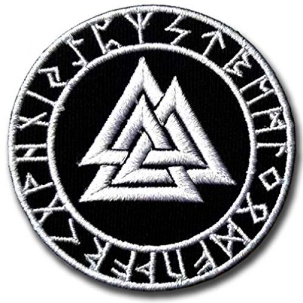 Verani Shop Airsoft Morale Patch 1 Verani Valknut Symbol Patch Iron on Nordic Thor Viking Odin Biker Applique Old Norse Harley Rider Biker Punk Heavy Metal Hard Rock Tatto Embroidered Iron On Badge Emblem Letter Morale Patch