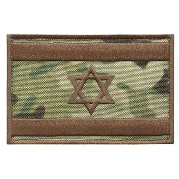 LEGEEON Airsoft Morale Patch 1 LEGEEON Israel Flag IDF Multicam Morale Star David Army Embroidery Hook&Loop Patch