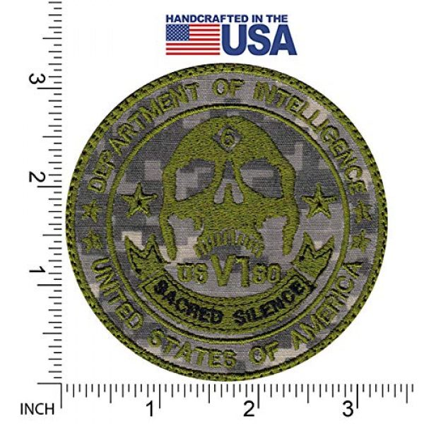 Tactical Patch Works Airsoft Morale Patch 2 Sacred Silence Department Patch
