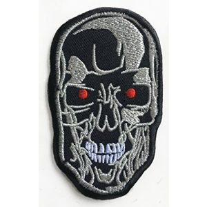 Karma Patch Airsoft Morale Patch 2 Terminator Patch (3.5 Inch) Cyborg T-800 Robot Embroidered Iron/Sew on Badge Applique Movie Souvenir Costume Skynet Cosplay
