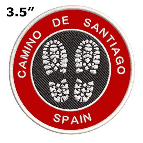 Appalachian Spirit Airsoft Morale Patch 2 Camino de Santiago, Spain Hiking Boot Embroidered Premium Patch DIY Iron-on or Sew-on Decorative Badge Emblem Vacation Souvenir Travel Gear Clothes Appliques