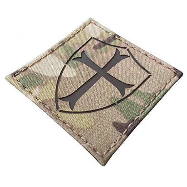 Tactical Freaky Airsoft Morale Patch 2 Multicam Infrared IR Crusader Cross Seal Team DEVGRU 3x3 IFF Tactical Morale Hook&Loop Patch