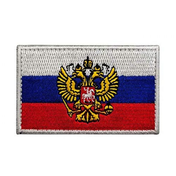 Tactical Embroidery Patch Airsoft Morale Patch 1 Air Force Russia Eagle Flag Embroidery Patch Military Tactical Morale Patch Badges Emblem Applique Hook Patches for Clothes Backpack Accessories